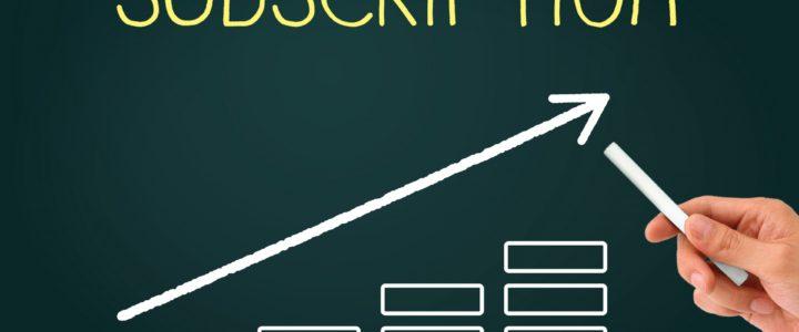 サブスクリクションでビジネスモデルの大変革?
